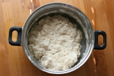 Dough after all of the flour has been incorporated