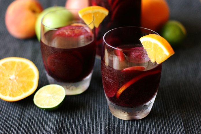 Red wine sangria (or make it virgin)